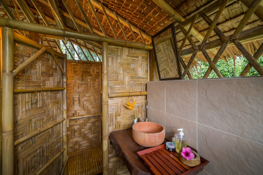 Bamboo Hut accommodation at Our Jungle Camp