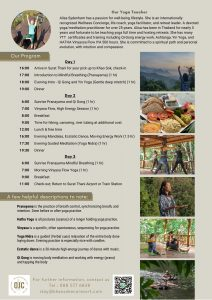 Jungle Yoga Retreat Flyer Khao Sok