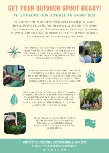 Jungle Life Camp activity Flyer